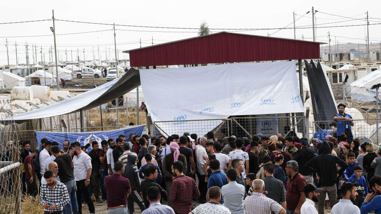 Syrian Refugees Arrive In Iraqi Kurdistan Following Turkish Campaign