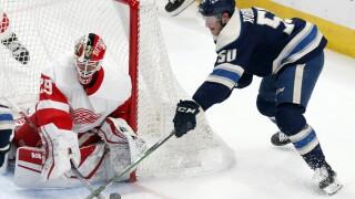 Thomas Greiss Red Wings Blue Jackets Hockey