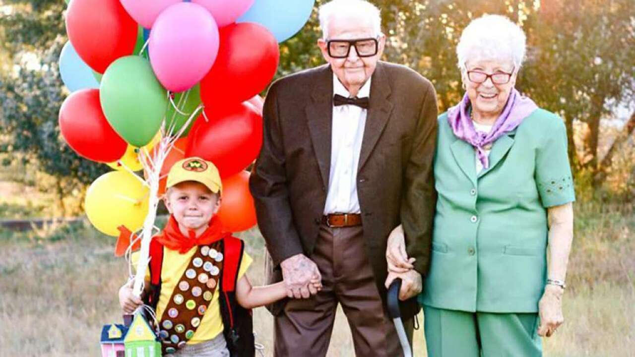 5-year-old's 'Up'-themed photoshoot with great-grandparents goes viral