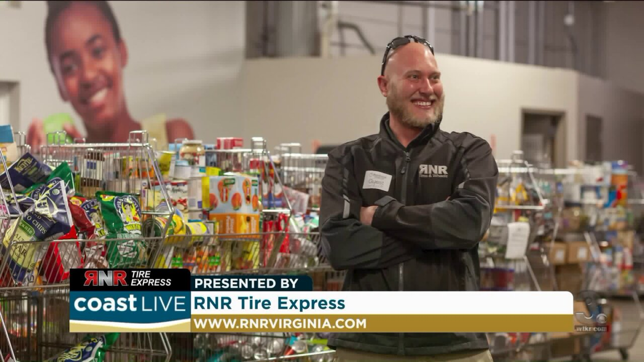 The connection between tires and the local food bank on CoastLive