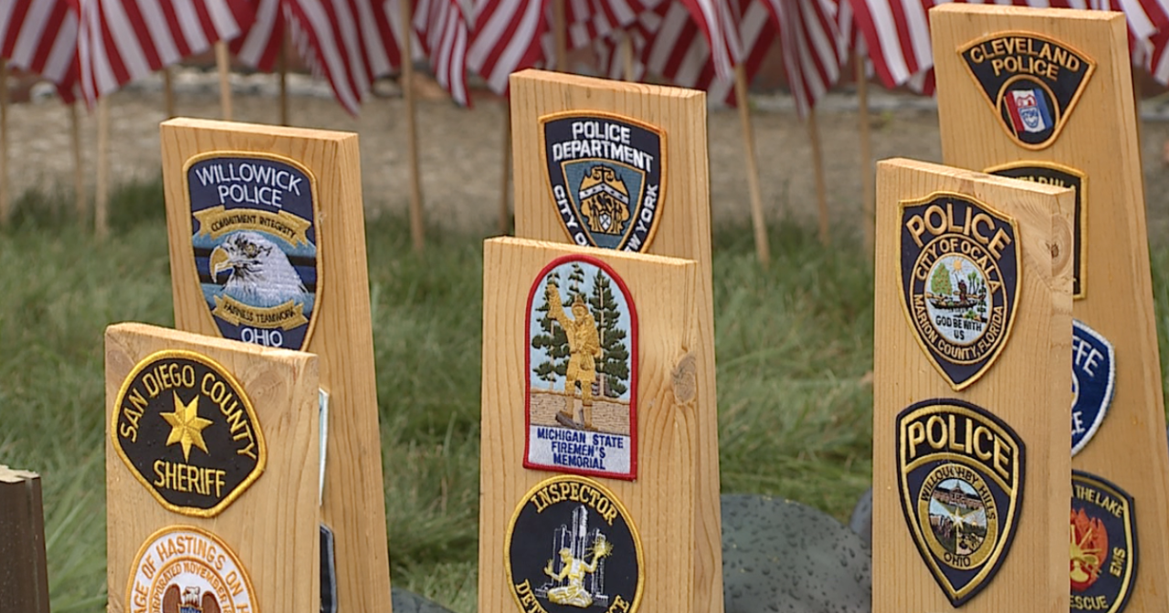 Police patches in yard of Willowick resident