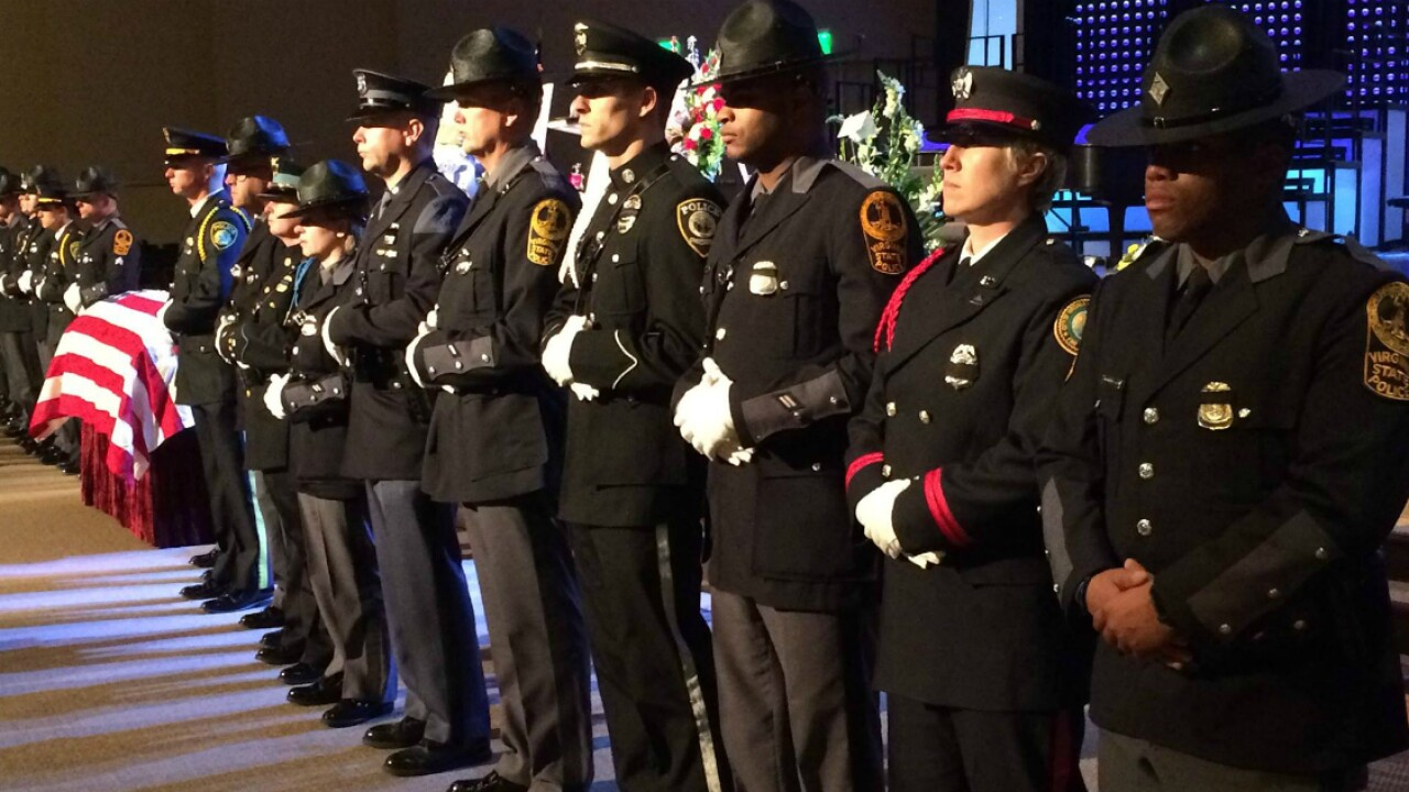 Thousands attend funeral for Virginia State Police Trooper Chad Dermyer