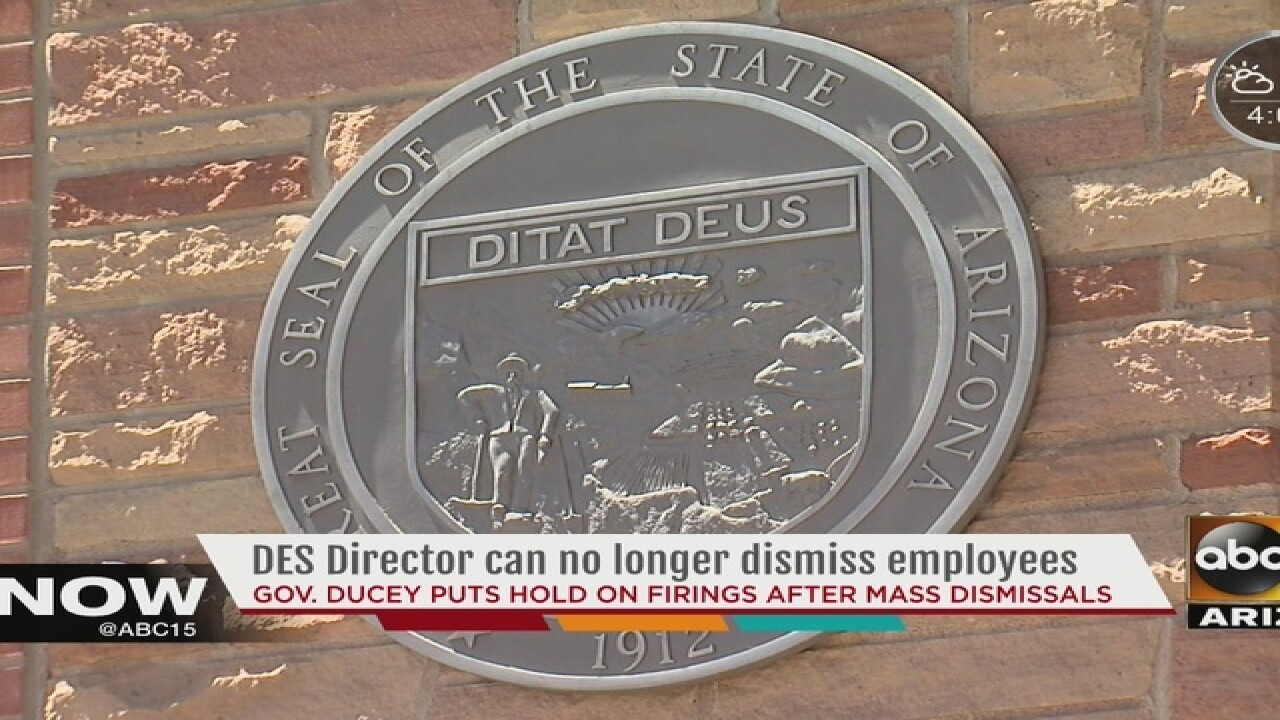 AZ gov takes DES director's power to fire staff
