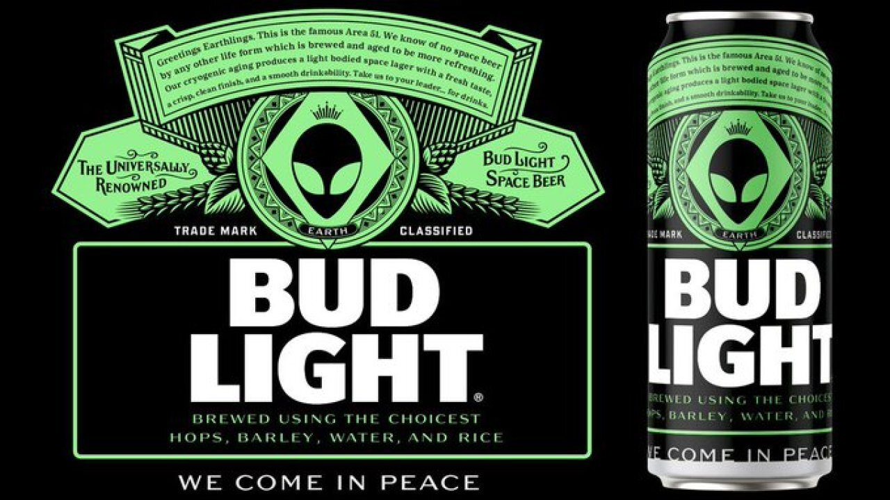 Bud Light limited edition Area 51 beer cans