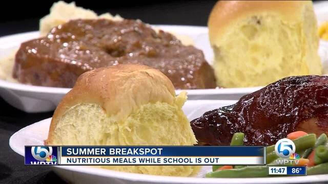Catering company provides hot meals to students during the summer