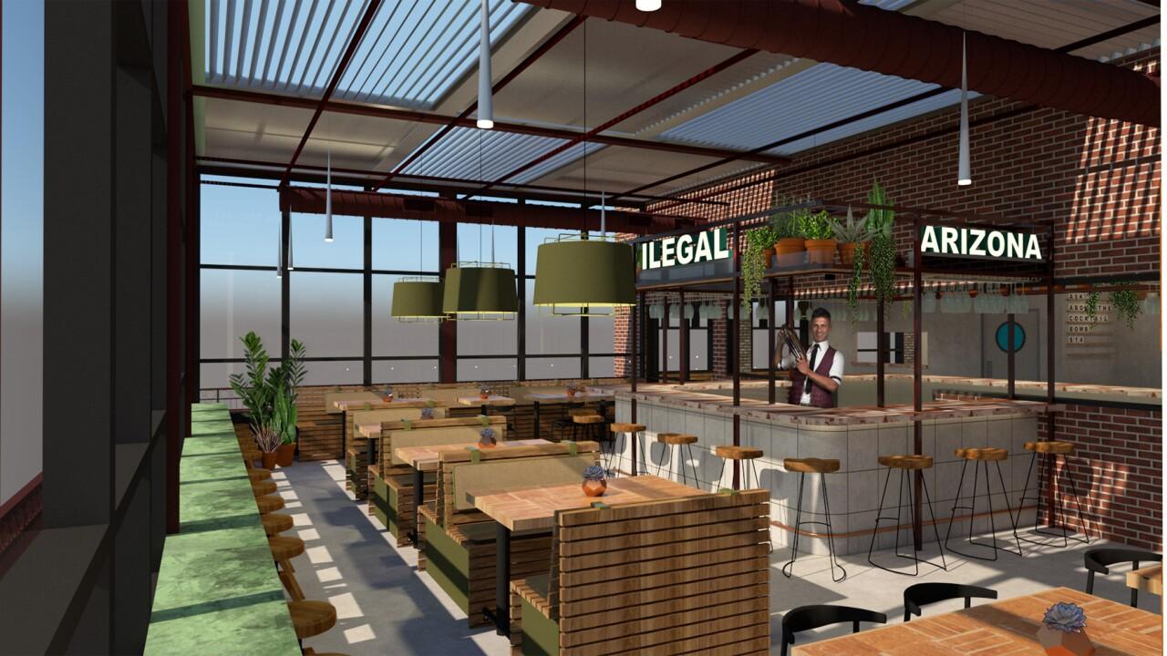 Ilegal Modern Cocktail Kitchen rendering 3