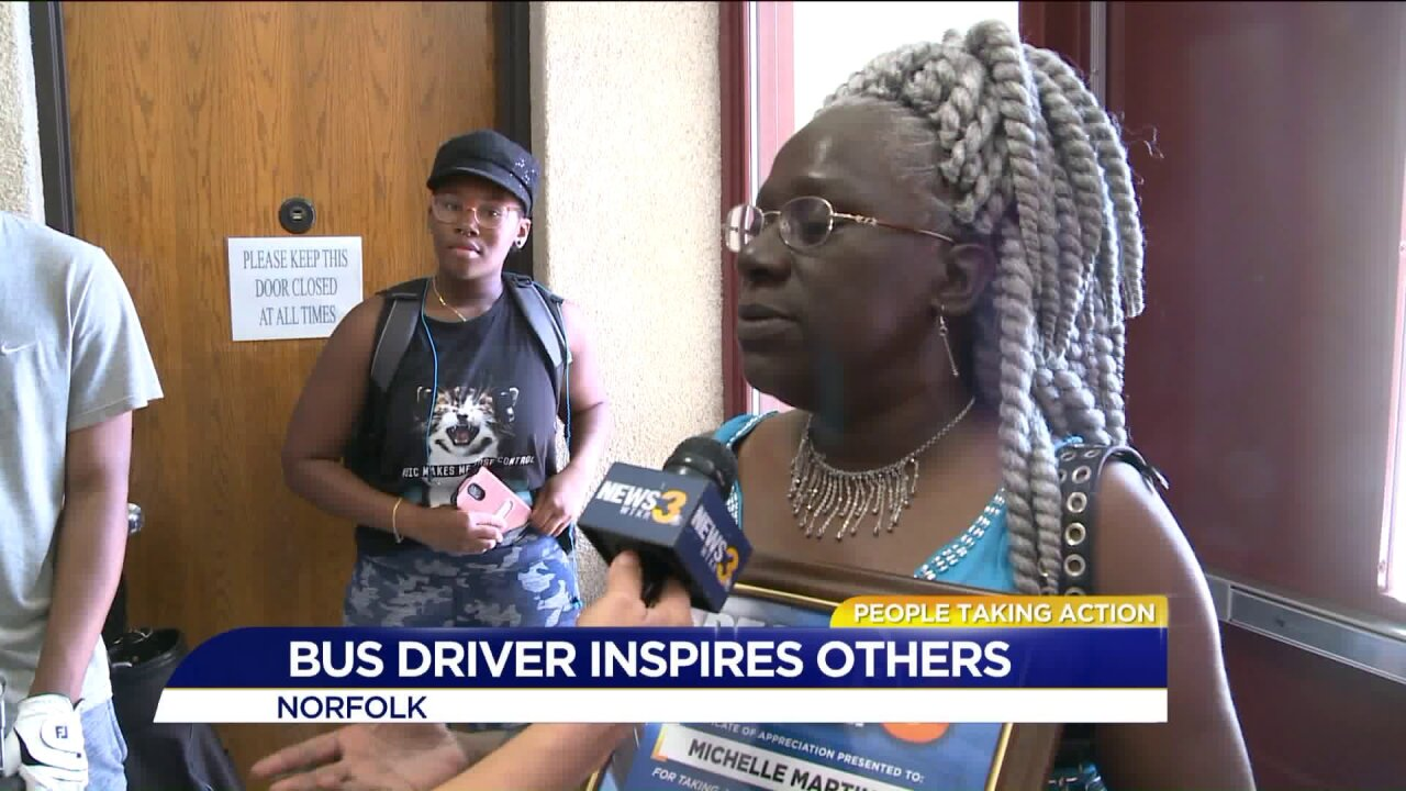 Norfolk bus driver making a difference in students' lives