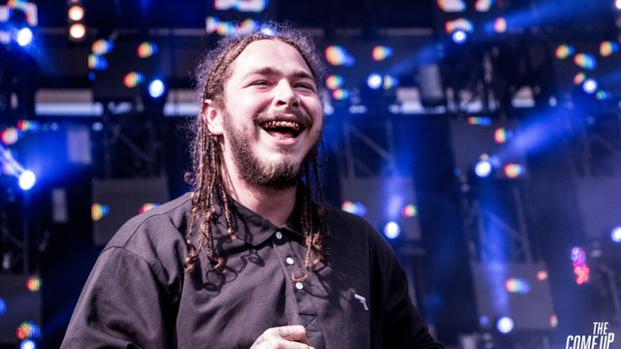 Plane carrying rapper Post Malone lands safely after blowing tires on takeoff