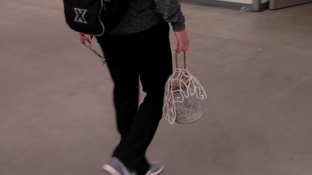 Xavier's carrying around WHAT in a jar?