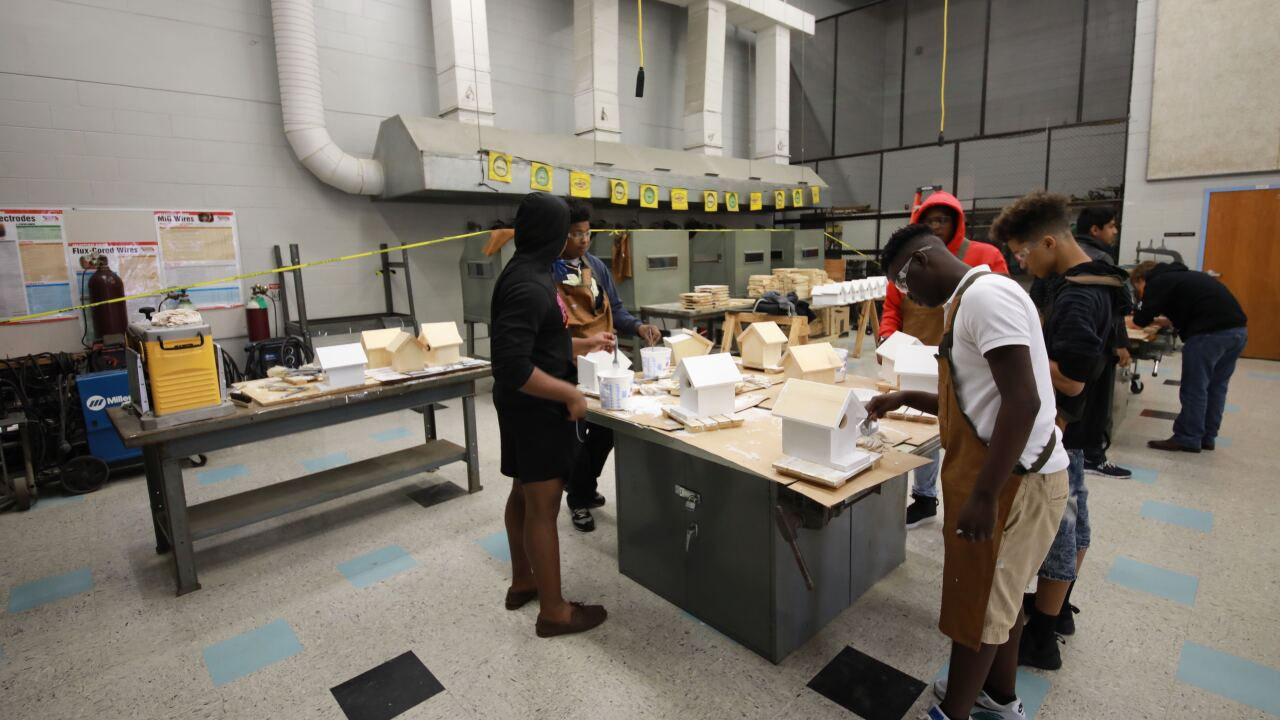 polk students construction