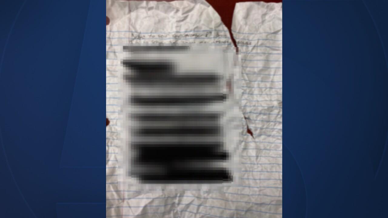 A threatening note found at Jensen Beach High School on Aug. 27, 2021.jpg