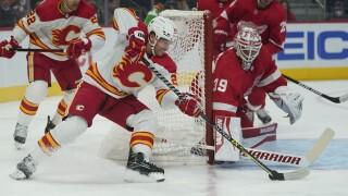 Blake Coleman Alex Nedeljkovic Flames Red Wings Hockey