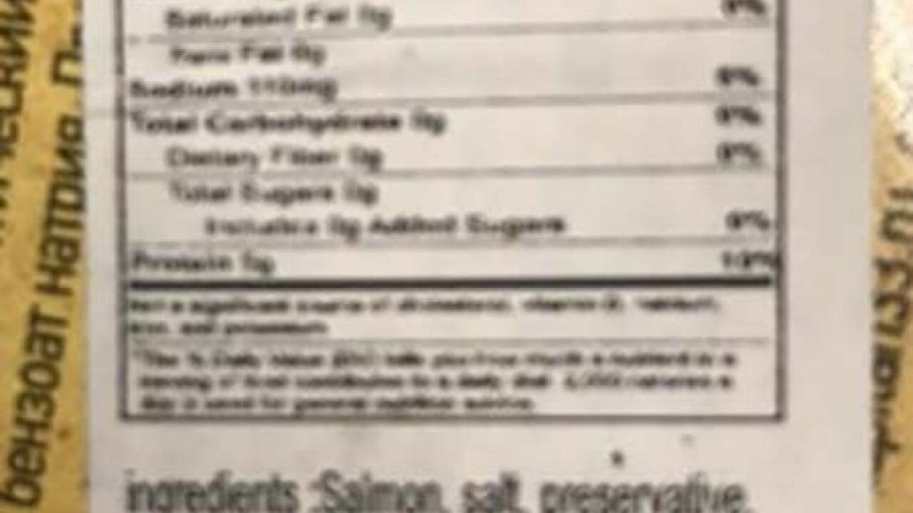 FDA Recall - Euphoria Fancy Food Inc. - Salmon Fillet