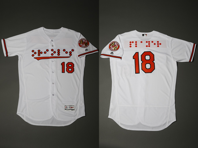 best website e623a 7bba4 Orioles to wear Braille jerseys Sept. 18 for National ...