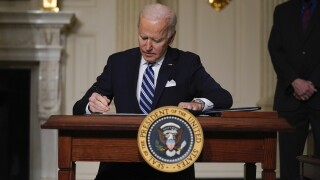 Joe Biden signing