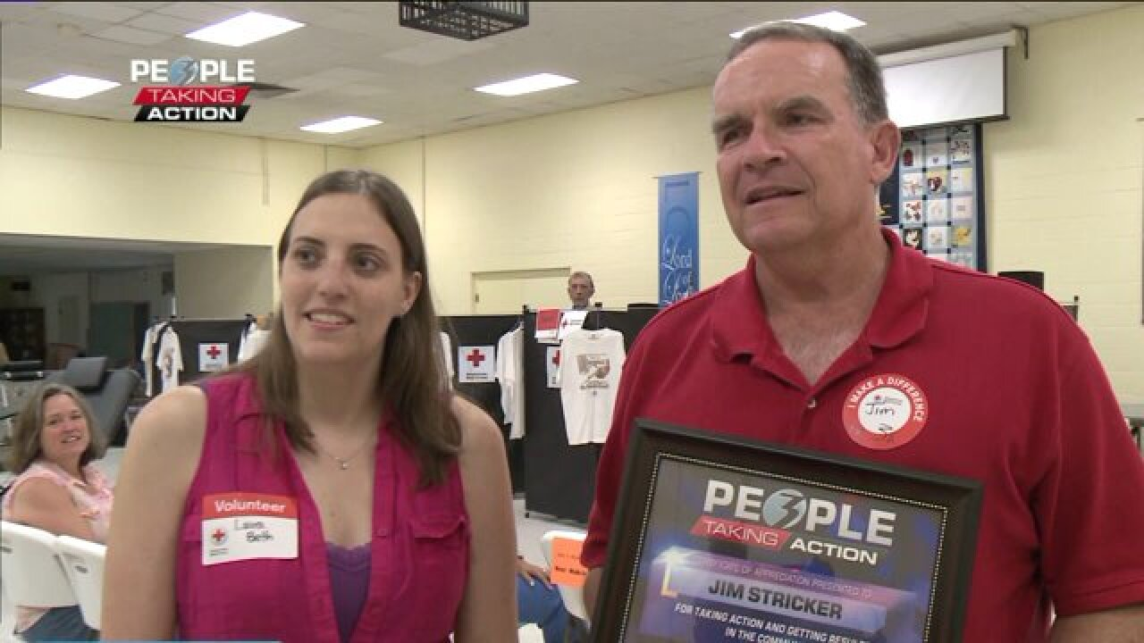 People taking action recipient has donated gallons ofblood