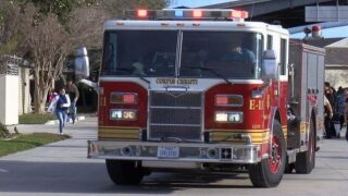 CCFD working gas lead on North Padre Island Drive