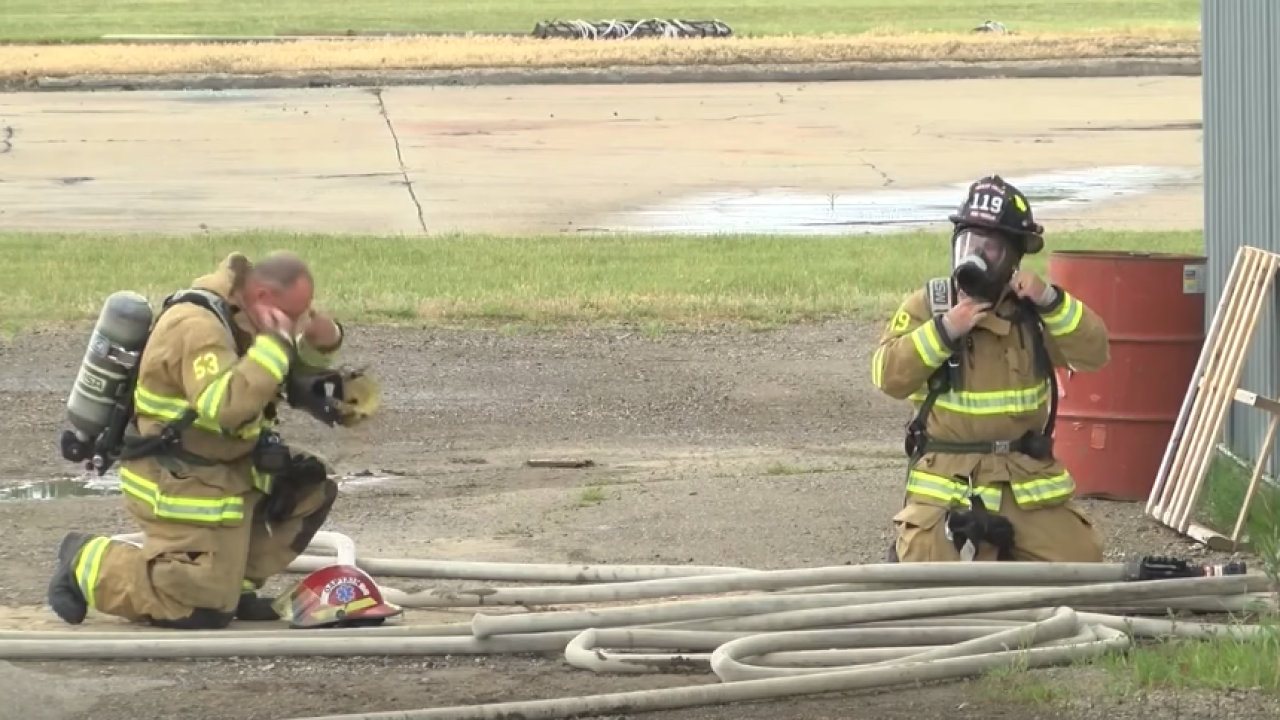 Great Falls Fire Rescue practices mayday training