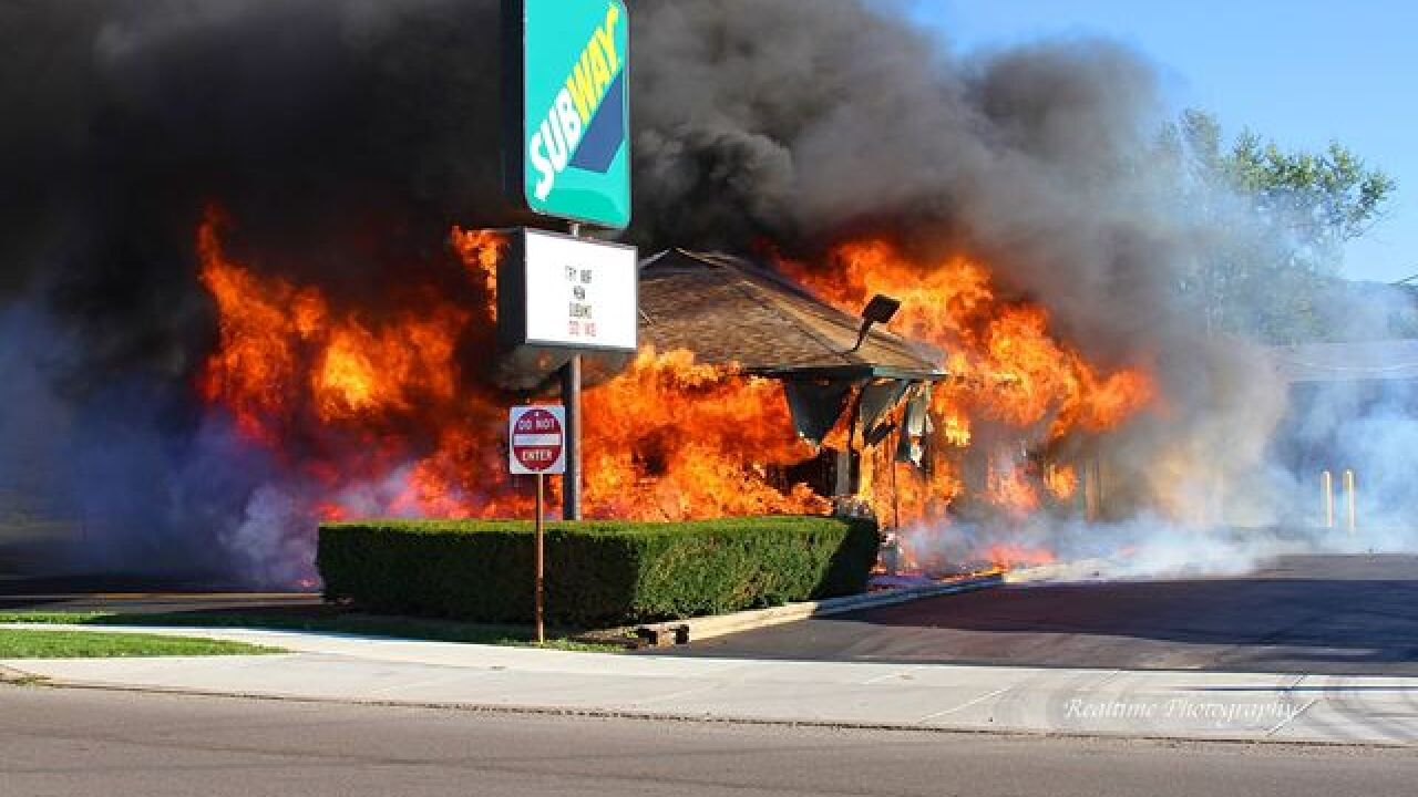 Subway restaurant a total loss after fire rips through
