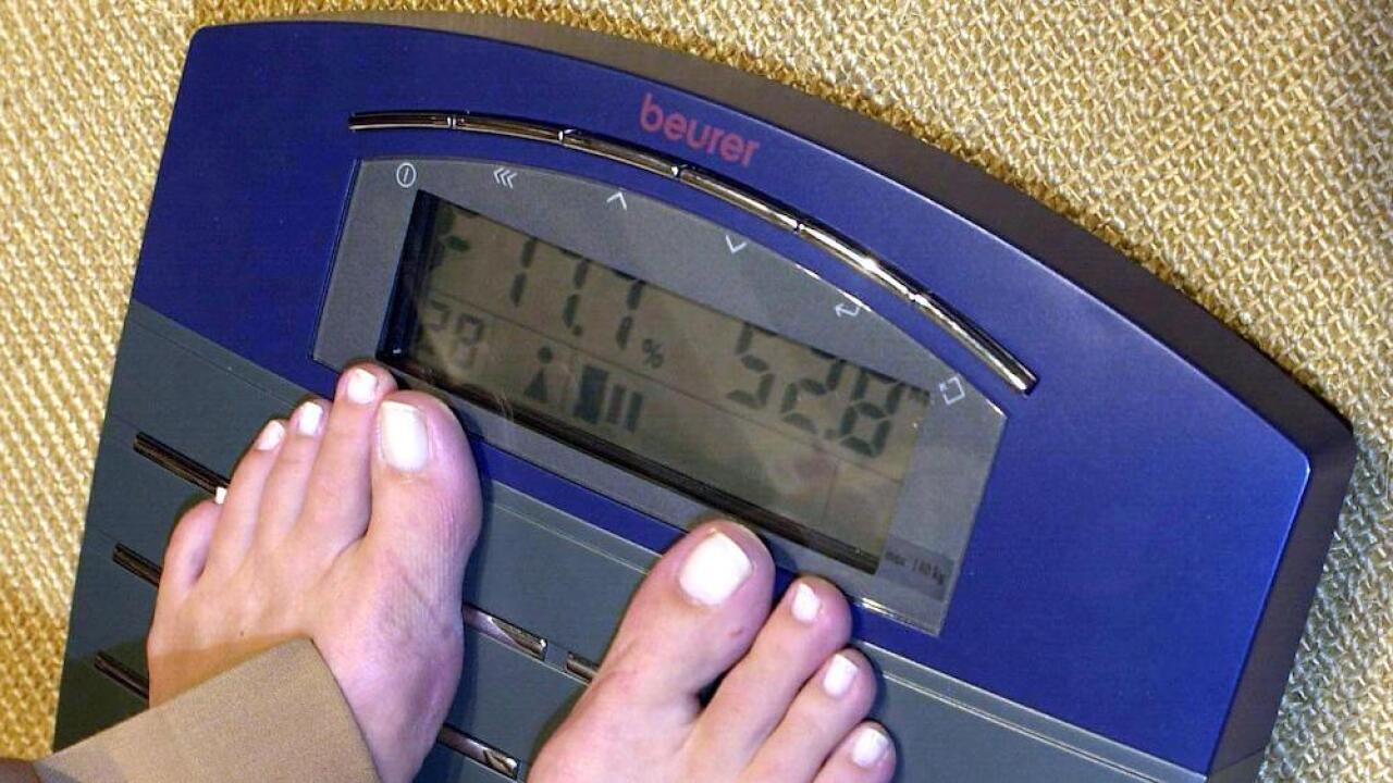 Bathroom scale obesity