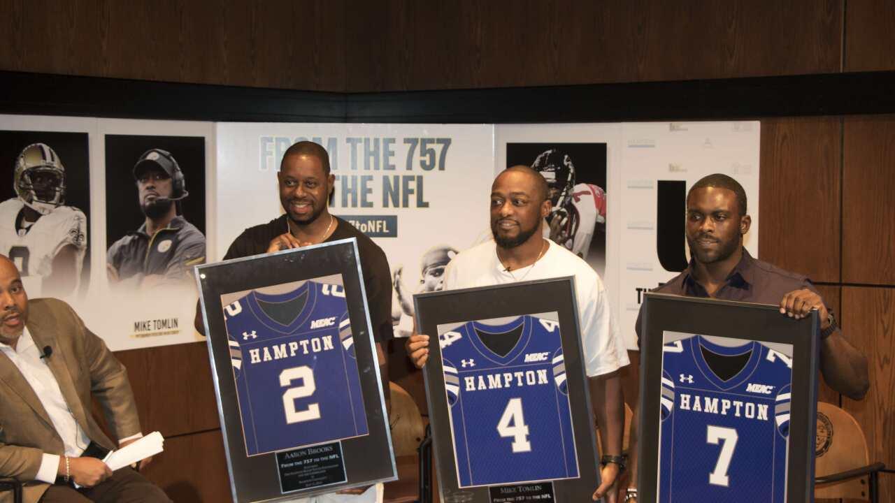 Hampton hosts gridiron icons for ESPN paneldiscussion