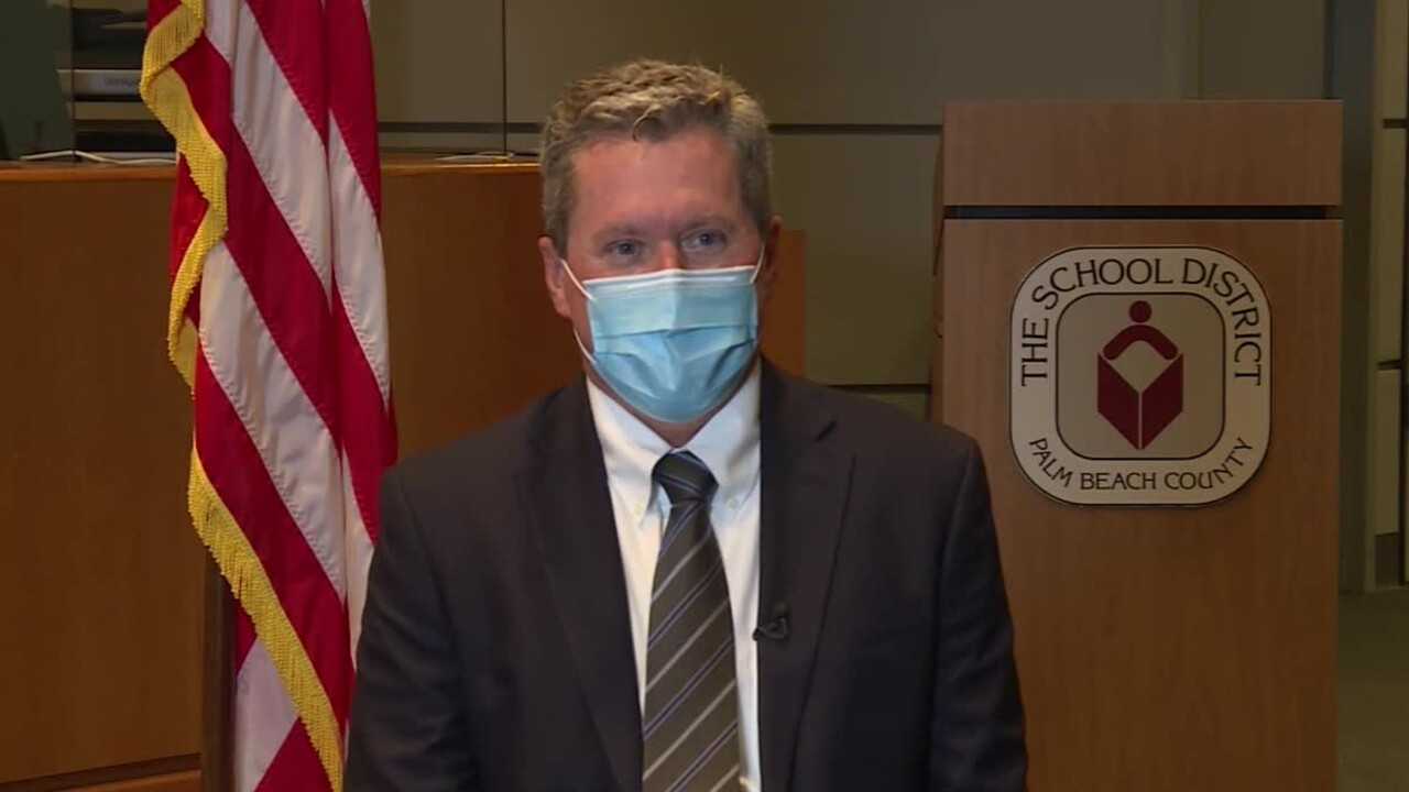 Palm Beach County interim superintendent Michael Burke speaks to WPTV on July 29, 2021.jpg