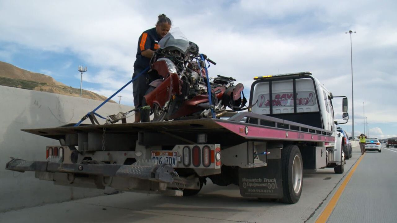 fatal motorcycle accident on I-15 in Draper.JPG