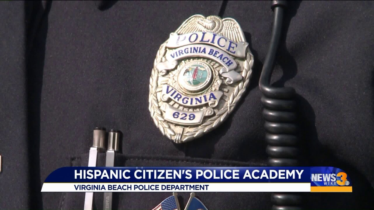 Virginia Beach Police Department starts up new Citizen's Police Academy for local Hispaniccommunity
