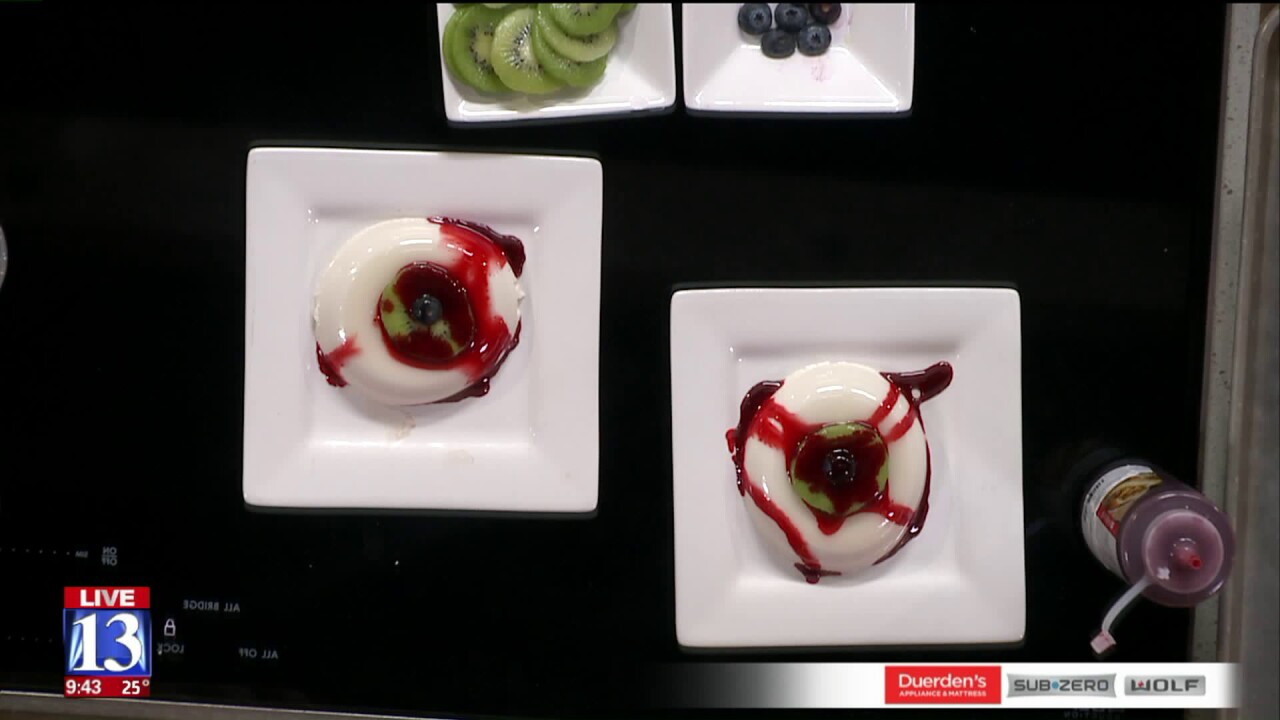 Bloody Eyeball Panna Cotta