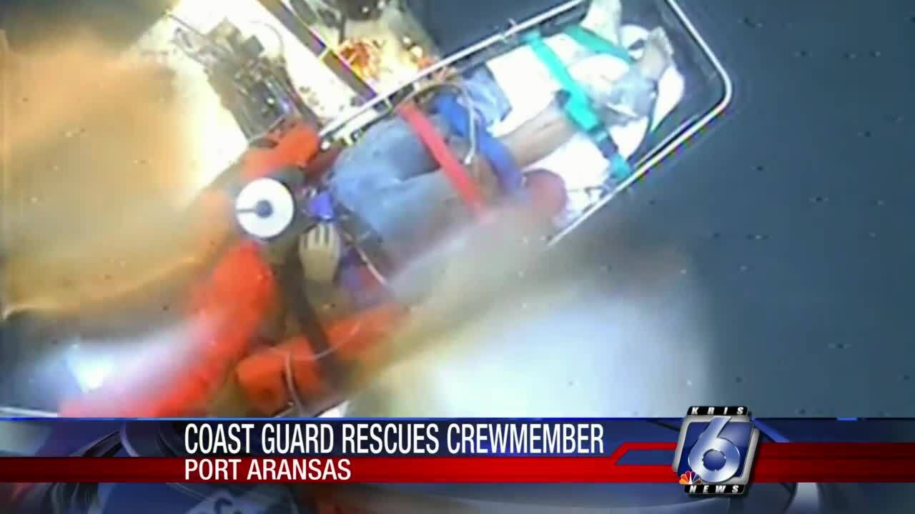 Offshore crew member medevaced to safety