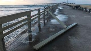 Ocean Beach Pier damaged