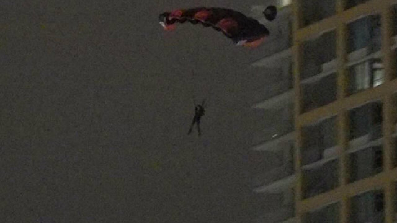 BASE jumper leaps from East Village building