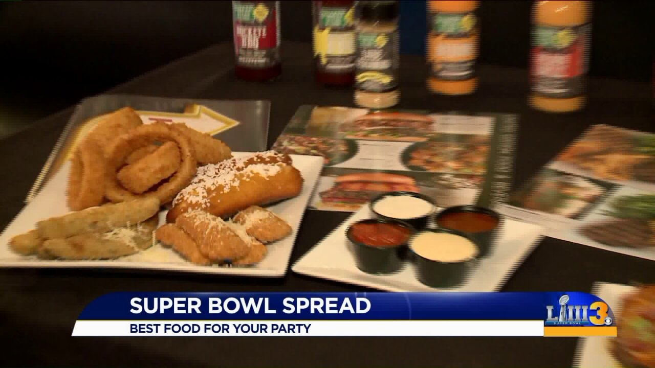 Prep your table for a super bowl party