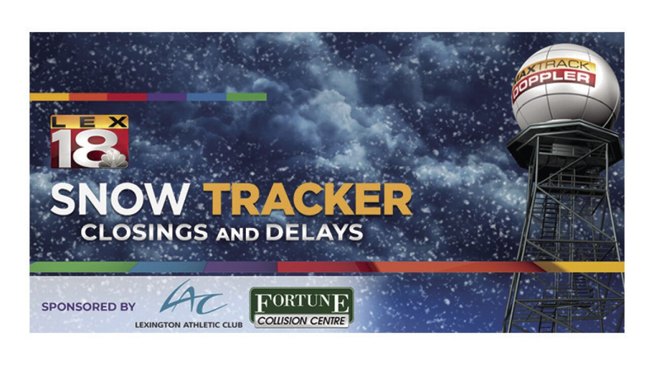 Closings and Delays Brought to You By:  Lexington Athletic Club and Fortune Collision Center