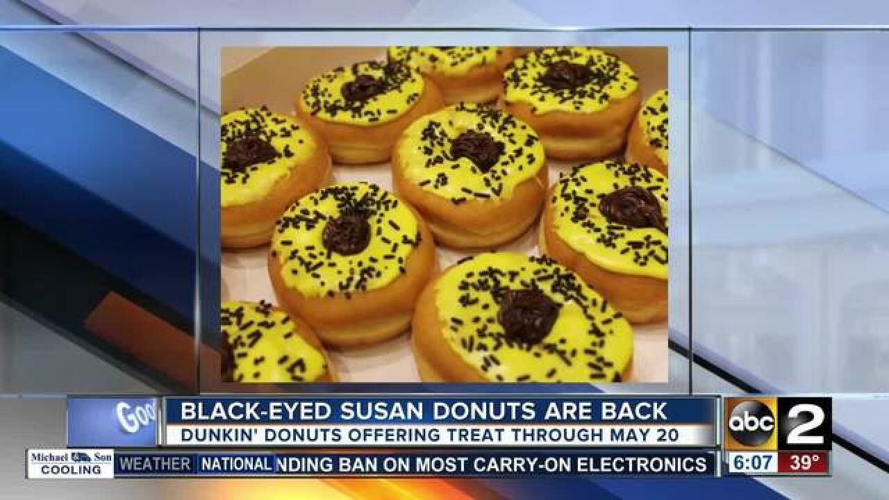 Black-Eyed Susan donuts back for Preakness