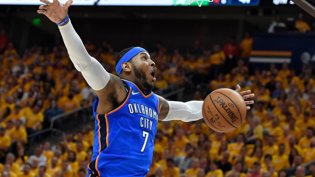 Carmelo Anthony, Thunder will be parting ways