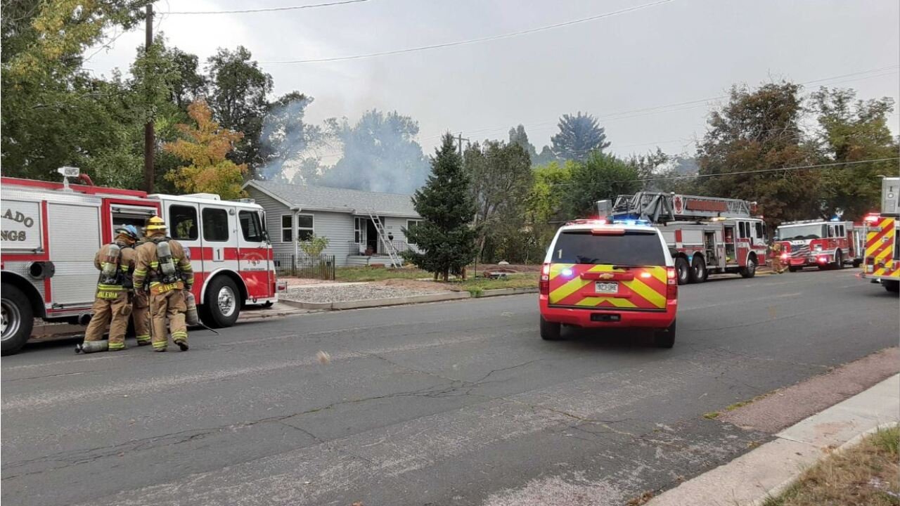 House fire on Monument Street, east of downtown Colorado Springs
