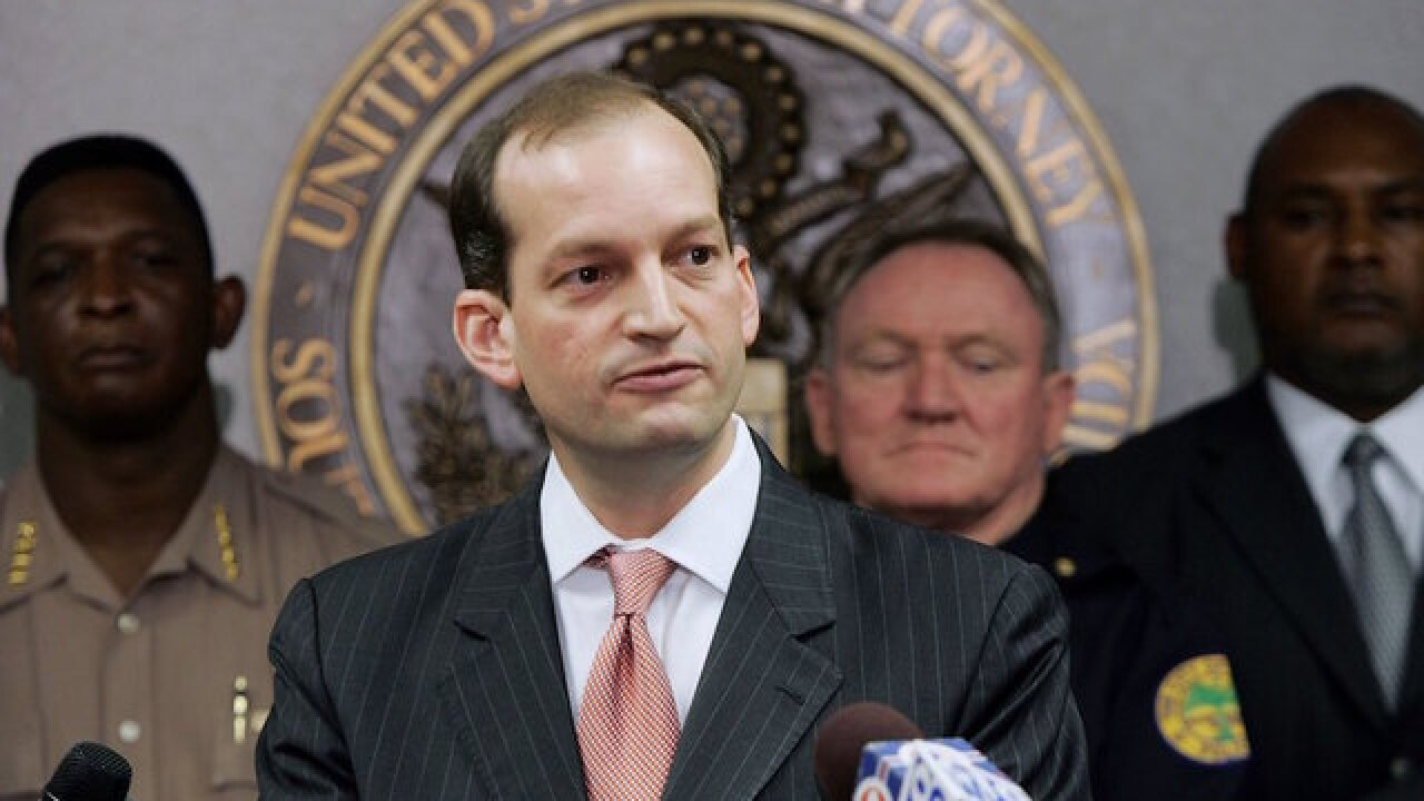 Alexander Acosta to be Trump's new pick for labor secretary