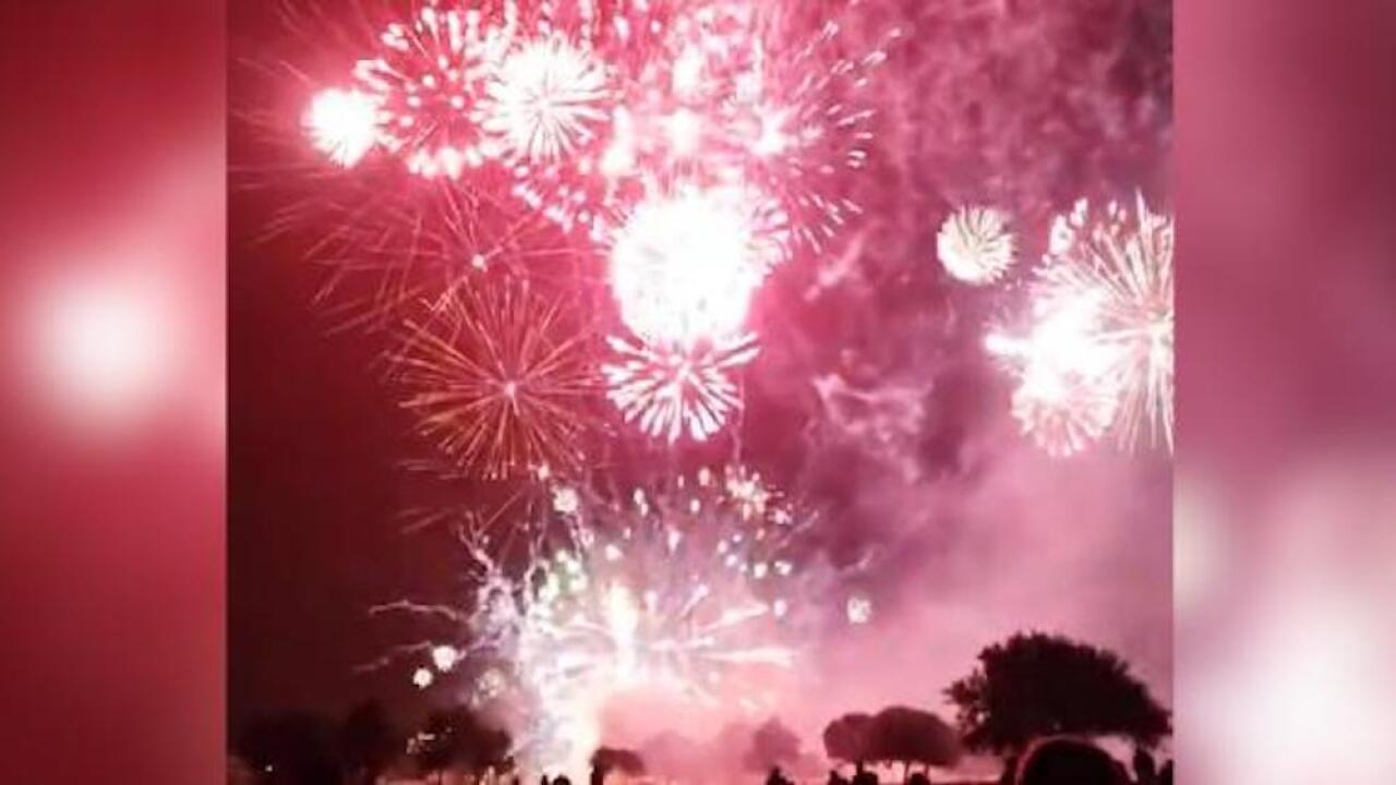 Mishap in Texas causes dozens of fireworks to be launched at once