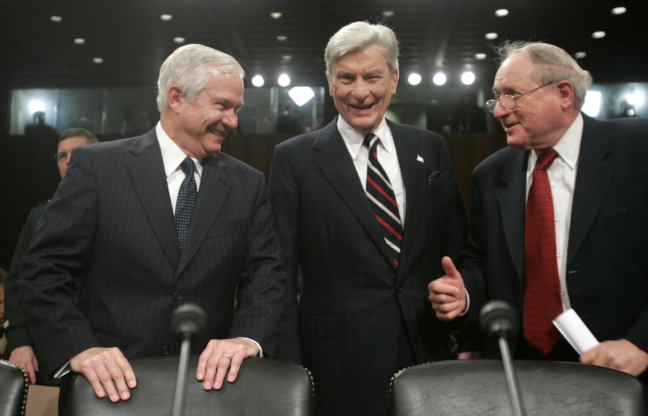 Robert Gates, John Warner, Carl Levin