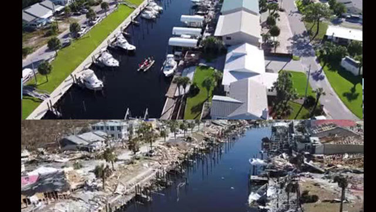 VIDEO: Stunning aerial video shows Mexico Beach before and