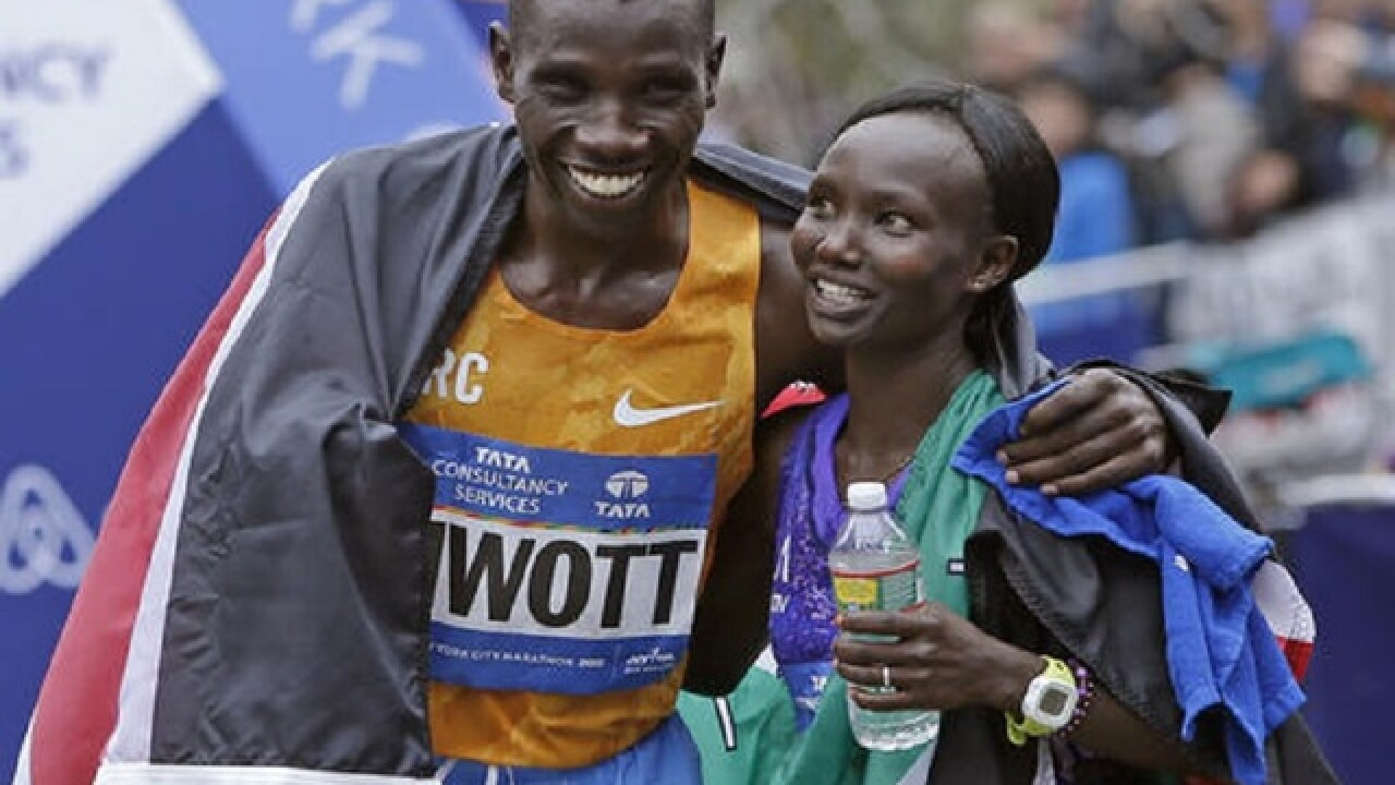 Kenya's Mary Keitany wins 3rd straight NYC marathon