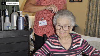 Nursing homes find ways to give seniors haircuts during pandemic