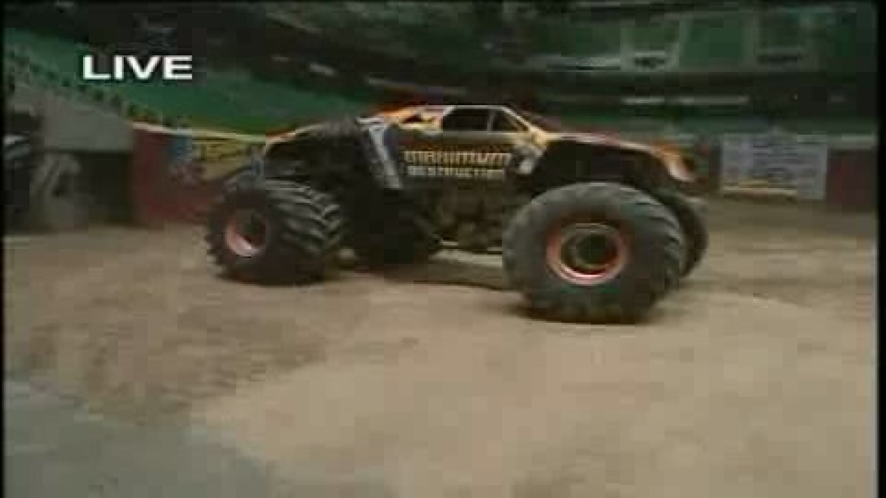 Trucks in action for Monster Jam 2012