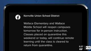 Kernville Union School District schools reopen after closing due to COVID surge