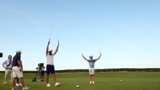 The return of live golf to television had a total audience delivery of 2.35 million viewers.