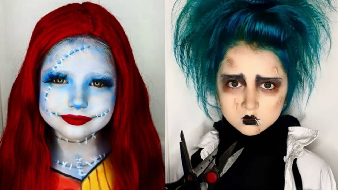 Mom transforms daughters into stunning characters in lieu of trick-or-treating