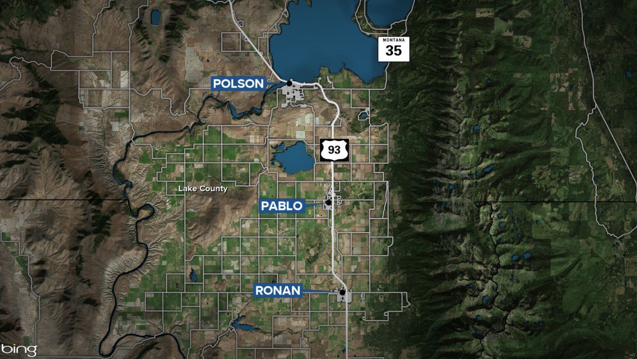 Ronan Pablo Polson Montana map