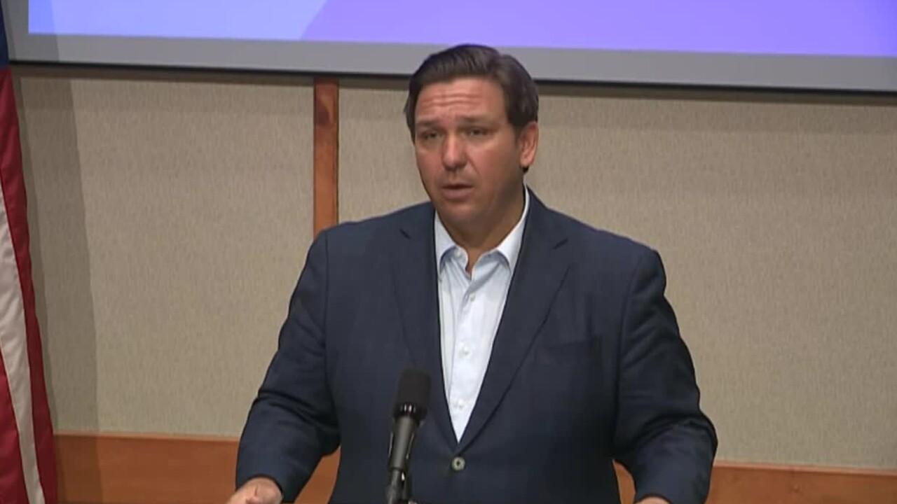 Gov. Ron DeSantis discusses coronavirus vaccine in Pensacola, Dec. 23, 2020