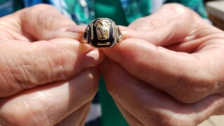 Ring found in car by Tulsa couple reunited with its family.